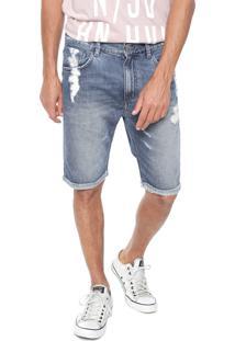 Bermuda Jeans John John Reta Minorca Azul
