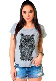 Camiseta Shop225 Coruja Tattoo Mescla