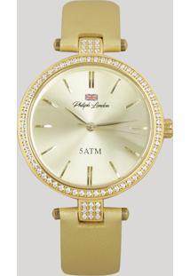 27ed3c88779 Relógio Analógico Philiph London Feminino - Pl81019142F Dourado - Único