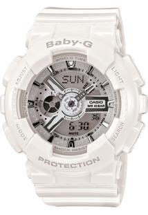 Relógio Feminino Casio G-Shock Baby-G Analógico Digital Ba-110-7A3Dr Branco