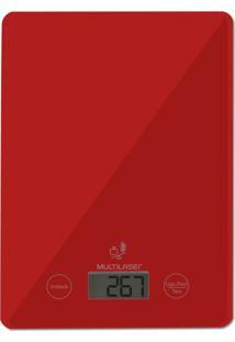 Balança De Cozinha 5Kg Multilaser Vermelha - Ce118 - Tricae