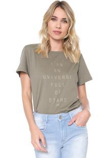 Camiseta Forum Universe Verde - Verde - Feminino - Algodã£O - Dafiti