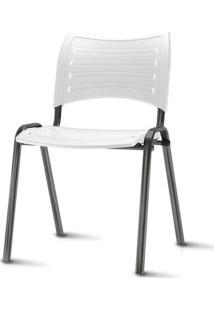 Cadeira Iso Assento Branco Base Preta - 54035 - Sun House