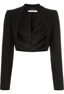 Givenchy Long-Sleeved Open-Front Bolero Jacket - Preto