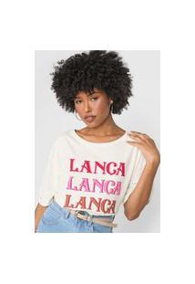 Camiseta Lança Perfume Logo Off-White