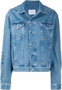 Lourdes Jaqueta Jeans Com Estampa De Logo - Azul