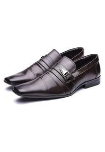 Sapato Social Masculino Bico Fino Conforto Macio Dia A Dia Marrom