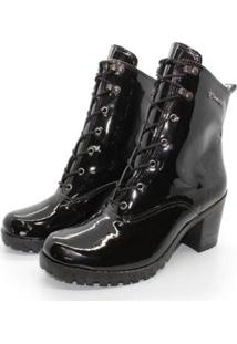 Bota Barth Shoes Wind Verniz - Preto - 33 - Feminino-Preto