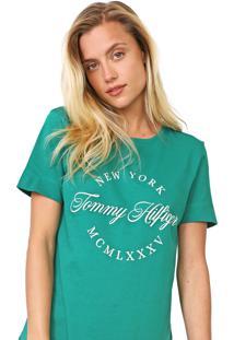 Camiseta Tommy Hilfiger Lívia Verde