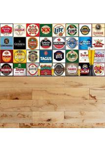 Adesivo Azulejos Rótulos De Cervejas Famosas (15X15Cm)