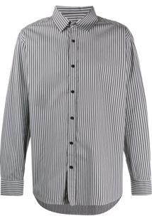 Not Guilty Homme Camisa Listrada - Cinza