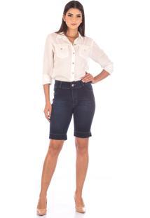 Bermuda Sisal Jeans Ciclista Black