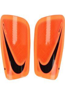 Caneleira De Futebol Nike Mercurial Lite - Adulto - Laranja Esc/Preto