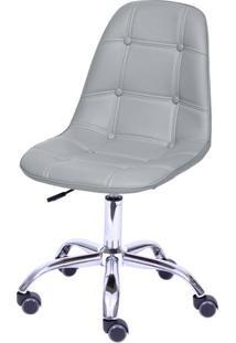 Cadeira Eames Botone Cinza Com Base Rodizio - 54689 - Sun House