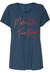Camiseta Alto Giro Fit Inspiracional Azul