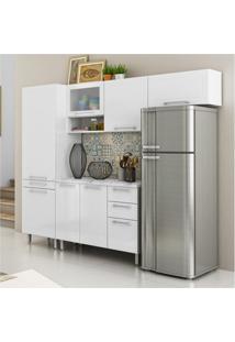 Cozinha Compacta Quadri 8 Pt Branco