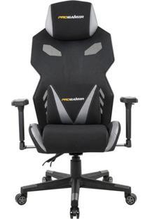 Cadeira De Escritório Gamer Pro Preta E Cinza