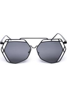 Óculos Amaro De Sol Aviador Geométrico - Feminino