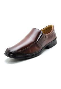 Sapato Masculino Rafarillo Social Soft Em Couro Mogno