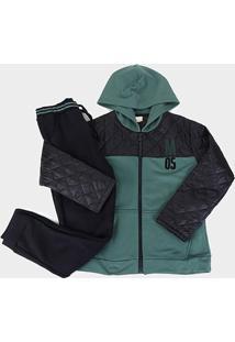 Conjunto Infantil Milon Jaqueta E Calça Masculino - Masculino-Verde Escuro