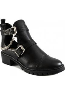 Bota Open Boot Cano Curto Cut Out Stella Schutz S042600050