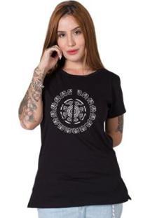 Camiseta Stoned Signature Mandala Feminina - Feminino