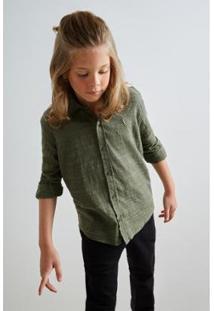 Camisa Mini Pf Hame Inv19 Infantil Reserva Mini Masculina - Masculino-Verde Escuro