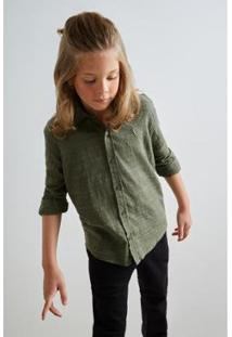 Camisa Pf Hame Inv19 Reserva Mini Masculina Infantil - Masculino-Verde Escuro