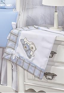 Manta Enxoval Padroeira Baby Amiguxos Azul
