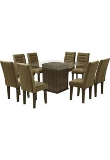 Conjunto De Mesa & Cadeiras Vegas Para 8 Lugares- Castandobuê