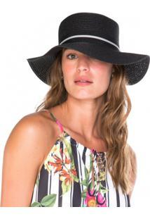 Chapéu Amaro De Palha Faixa Decorativa - Feminino