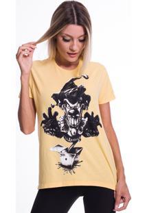 Camiseta Jazz Brasil Palhaã§O Amarela - Amarelo - Feminino - Algodã£O - Dafiti