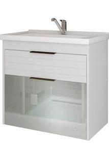 Gabinete Suspenso Para Banheiro Azaléia 56X59Cm Branco