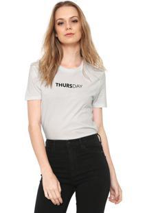 Camiseta Only Thursday Branca