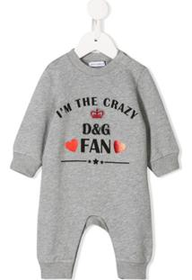Dolce & Gabbana Kids Body I'M The Crazy Fan - Cinza