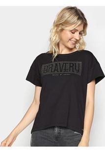 Camiseta Colcci Bravery Com Aplicação Feminina - Feminino