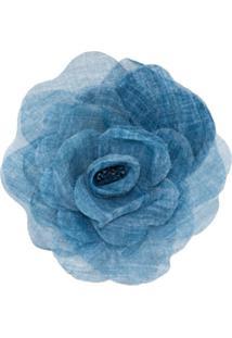 Philosophy Di Lorenzo Serafini Broche Com Aplicação Floral - Azul