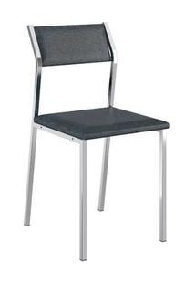 Cadeira Carraro 1709 Aço 4 Unidades Cromad/Jeans