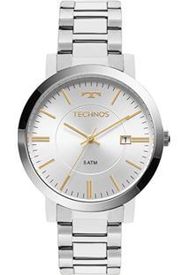 Relógio Technos Analógico 2115Kzy/3K Feminino - Feminino-Prata