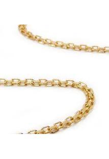 Corrente Em Ouro Amarelo 18K - Esteirinha - Feminino - 45 Cm