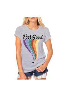 Camiseta Coolest Feel Good Cinza