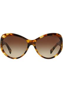 107871879 Óculos De Sol Michael Kors Gatinho Mk2002Qm Brazil Feminino - Feminino-Marrom  Claro