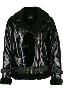 Twin-Set Faux Shearling Jacket - Preto