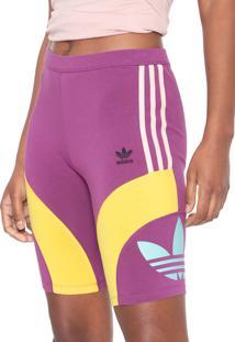 Bermuda Adidas Originals Ajustada Cycling Roxa