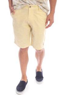 Bermuda Aleatory Sarja Soft Masculina - Masculino-Amarelo