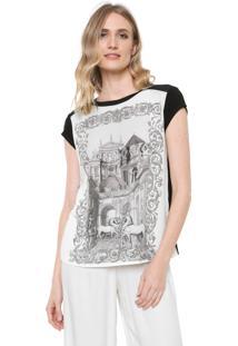 Camiseta Carmim Horse Preta/ Branca