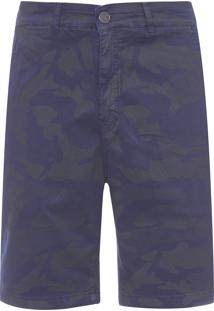Bermuda Masculina Color Canvas - Azul