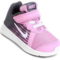 13de31cff8b06 Zattini. Tênis Infantil Nike Downshifter 8 Gtv Com Velcro Feminino -  Feminino-Rosa+Branco