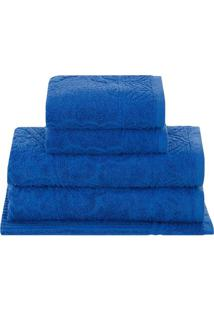 Jogo De Toalhas Jasmine- Azul Royal- 5Pçsbuddemeyer