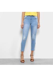 Calça Jeans Biotipo Skinny Amarração Feminina - Feminino
